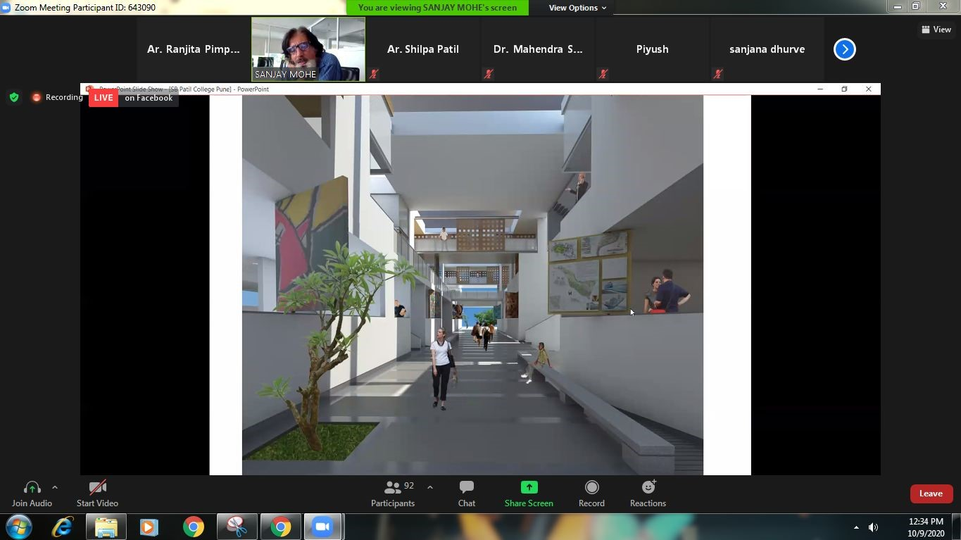 REPORT ON WEBINAR FOR INSTIUTE AND CAMPUS PLANNING