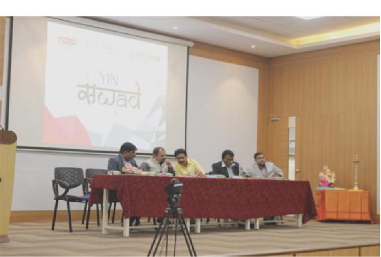 Dignitaries on the Dias - Guest lectures at S B Patil College of architecture and design