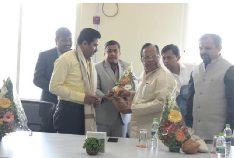 Felicitation of Mr. Sunil Patil - Guest lectures at S B Patil College of architecture and design